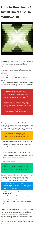 DirectX 12 infographic