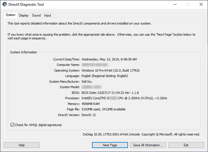 DirectX 12 first screen - Windowstan