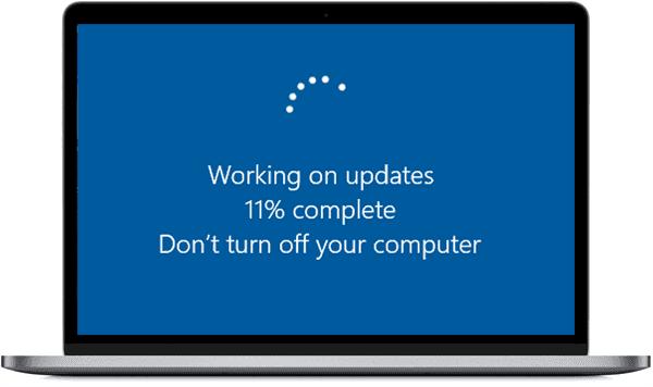Windows Update in progress