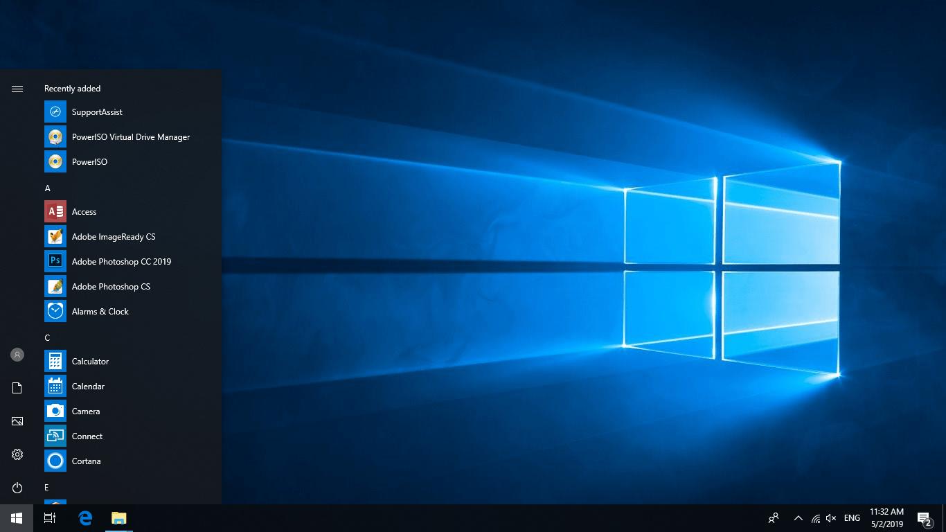 Windows 10 Desktop default wallpaper - Windowstan