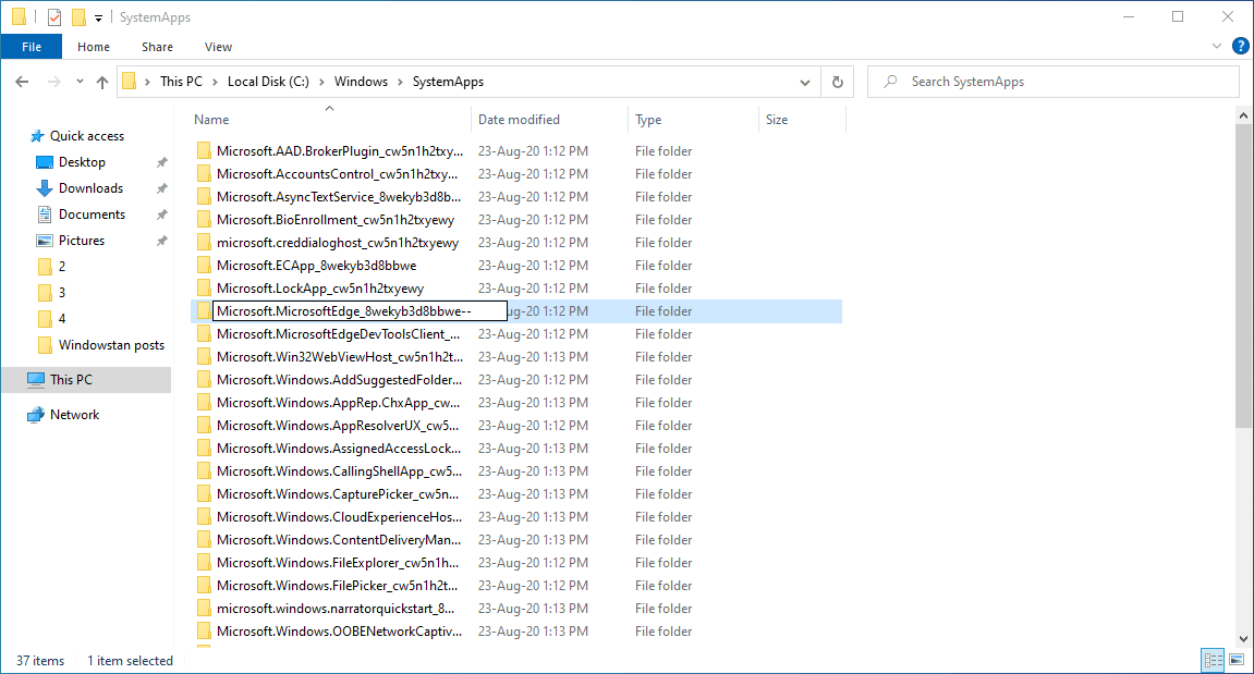 2-rename microsoft edge system folder