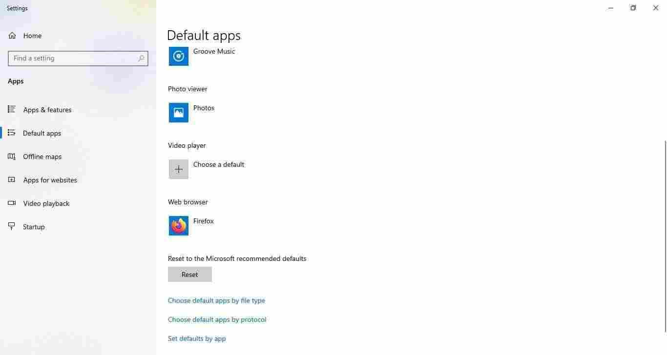 3-Firefox set as default Windows 10 browser app